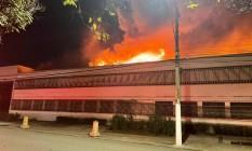 Incêndio atinge a Cinemateca Brasileira, em São Paulo Foto: Reprodução