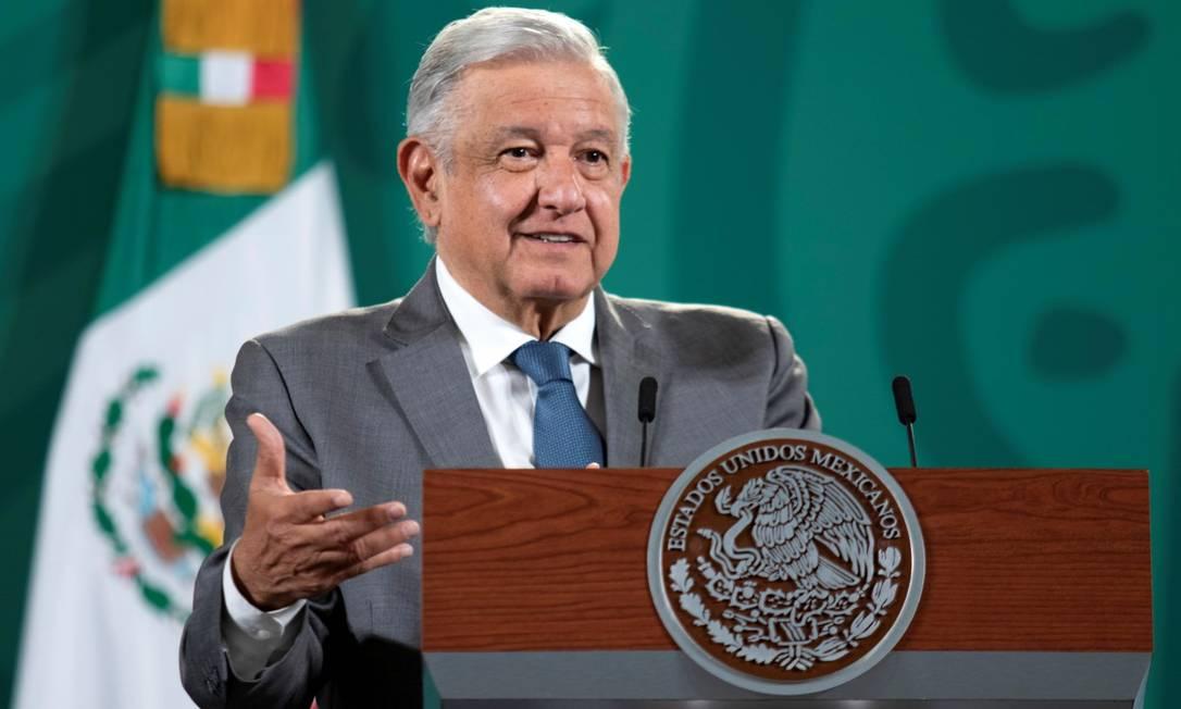 Presidente López Obrador quer libertar presos torturados, maiores de 75 anos, doentes crônicos ou que estejam na prisão sem sentença há mais de 10 anos Foto: MEXICO'S PRESIDENCY / via REUTERS-14-7-2021