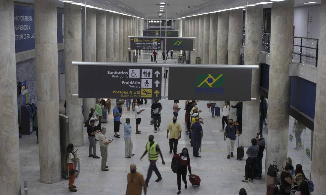 EC Rio de Janeiro (RJ) 10/12/2020 - Governo vai autorizar a realização de estudos para o leilão de concessão do Aeroporto Santos Dumont . Foto de Márcia Foletto Foto: Márcia Foletto / Agência O Globo
