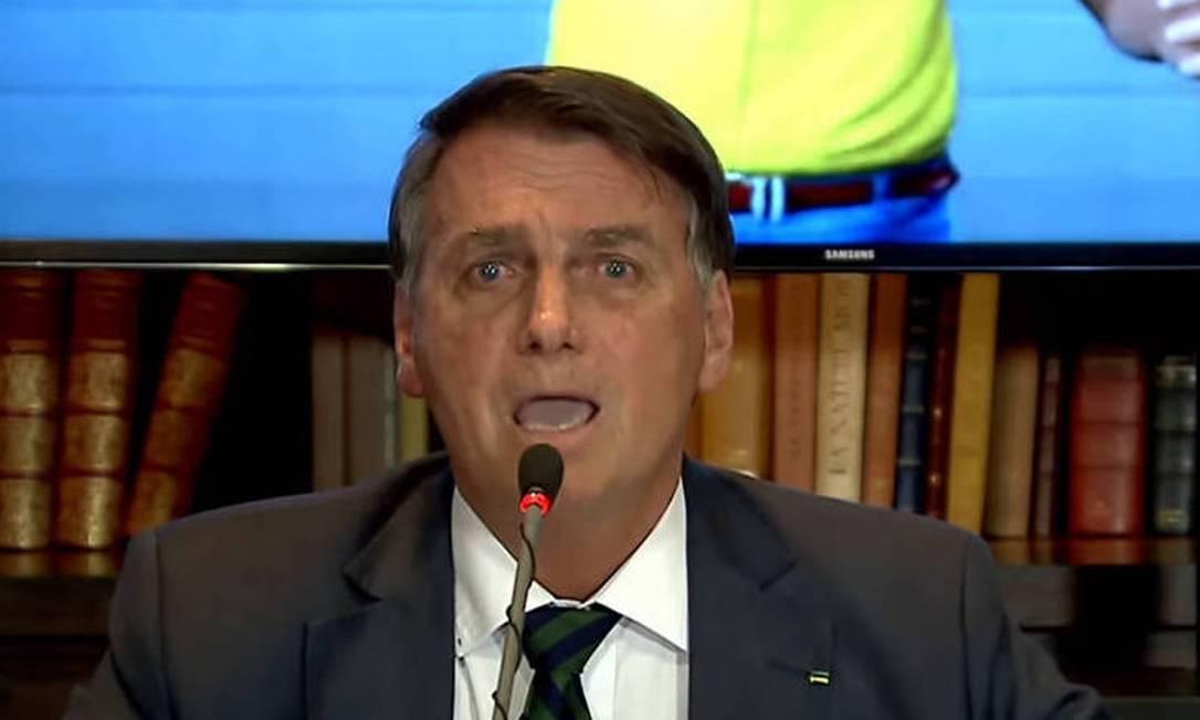 Presidente Jair Bolsonaro em live Foto: Reprodução/TV Brasil