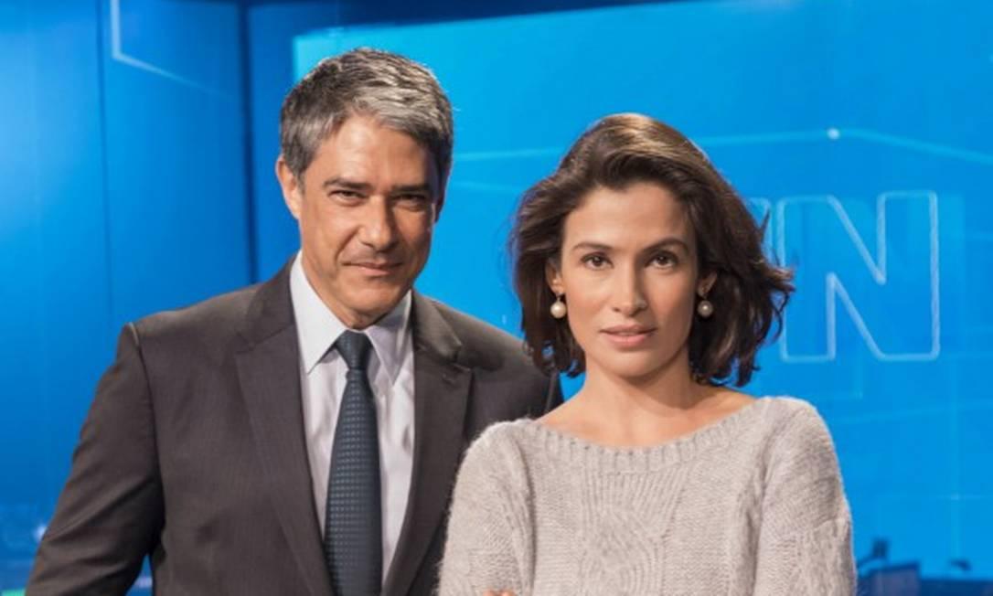 William Bonner e Renata Vasconcellos, apresentadores do Jornal Nacional Foto: Sergio Zalis / Divulgalçao