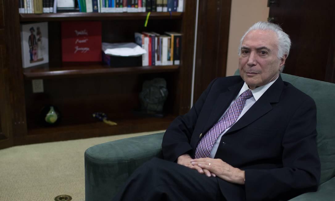 Michel Temer, ex-presidente da República Foto: Edilson Dantas / Agência O Globo