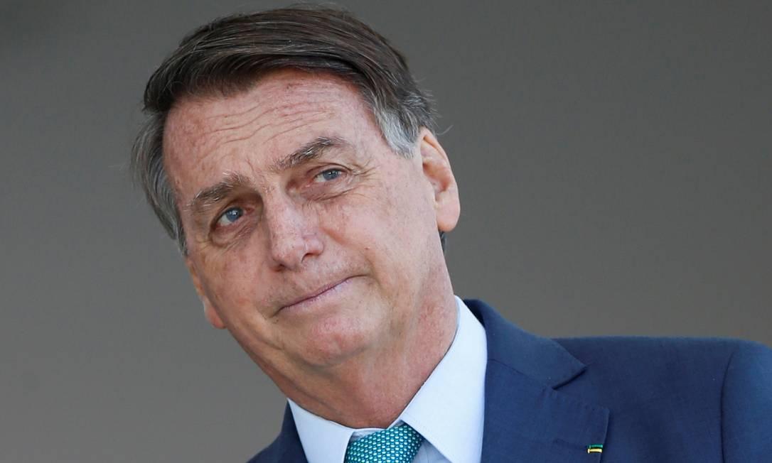O presidente Jair Bolsonaro, durante evento no Palácio do Planalto Foto: Adriano Machado/Reuters/30-07-2021