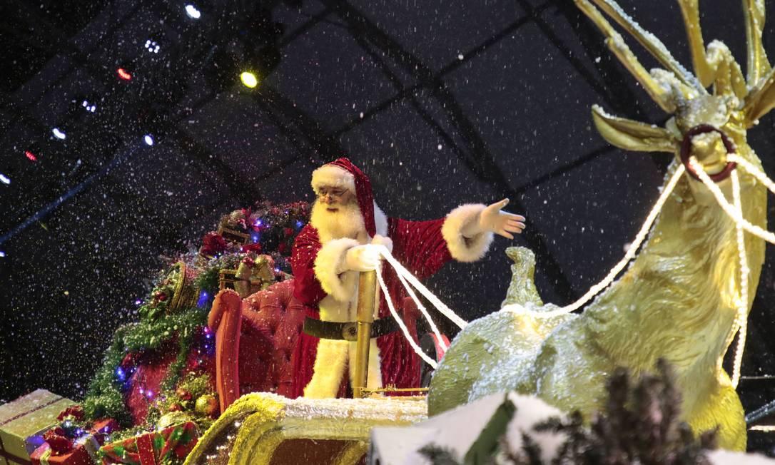 Papai Noel, no encerramento do Grande Desfile de Natal numa edição passada do Natal Luz de Gramado Foto: Thiele-Cleiton / SerraPress / Divulgação