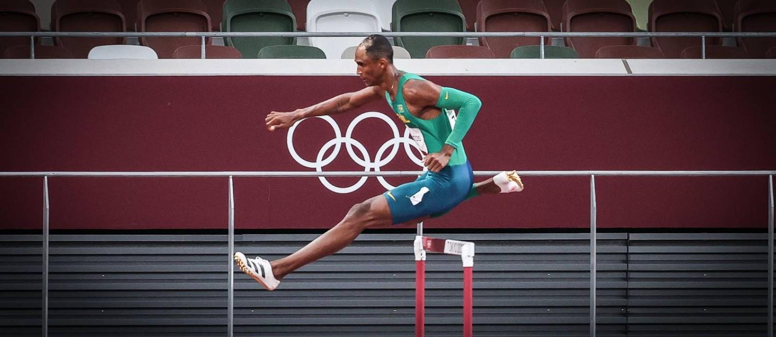 Alison dos Santos brilhou na primeira final olímpica da carreira Foto: Wander Roberto/COB / Agência O Globo