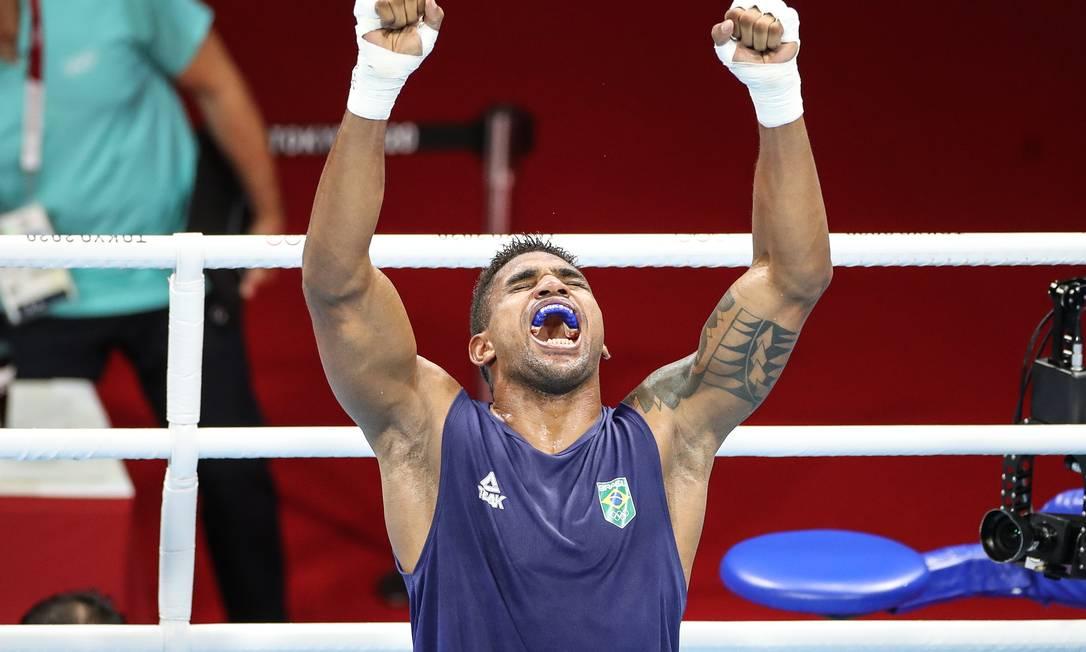 Abner Teixeira após vitória nas quartas de final em Tóquio Foto: Gaspar Nóbrega/COB / Agência O Globo
