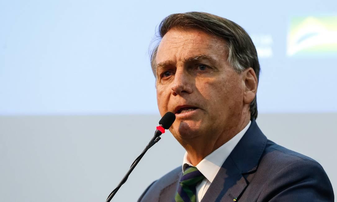 O presidente Jair Bolsonaro discursa durante cerimônia no Ministério da Cidadania Foto: Alan Santos/Presidência/02-08-2021