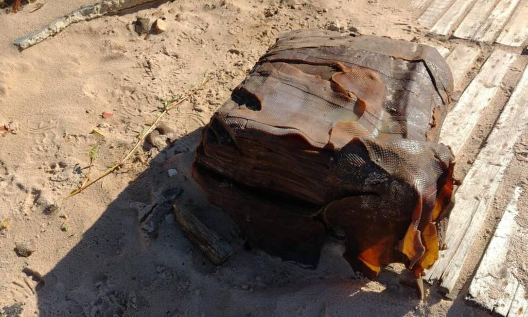 Empresa de Limpeza Urbana de Salvador já encontrou 10 fardos nas praias do Flamengo e de Itapuã Foto: Divulgação