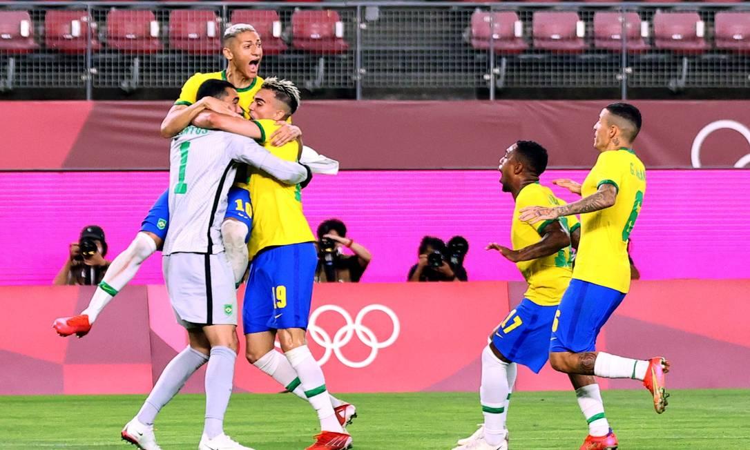 Seleção comemora classificação Foto: HENRY ROMERO / REUTERS