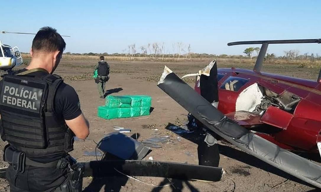 Aeronave transportava quase 300 kg de cocaína Foto: Divulgação