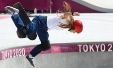 Dora Varella, no skate park Foto: MIKE BLAKE/Reuters