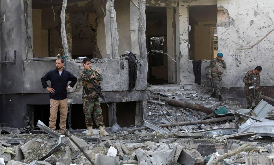 Residência do ministro afegão Bismillah Khan Mohammadi em Cabul foi alvo de ataque Foto: STRINGER / REUTERS