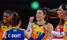 Rosamaria foi um dos destaques da partida Foto: PEDRO PARDO / AFP