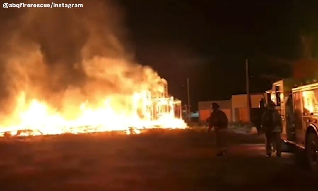 Incêndio atinge esdúdio onde a série Stranger Things era gravada Foto: Reprodução