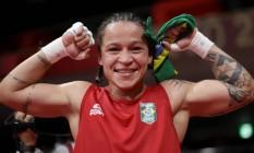 Grande aposta brasileira, a Baiana Beatriz Ferreira disputa o ouro no boxe Foto: UESLEI MARCELINO / REUTERS
