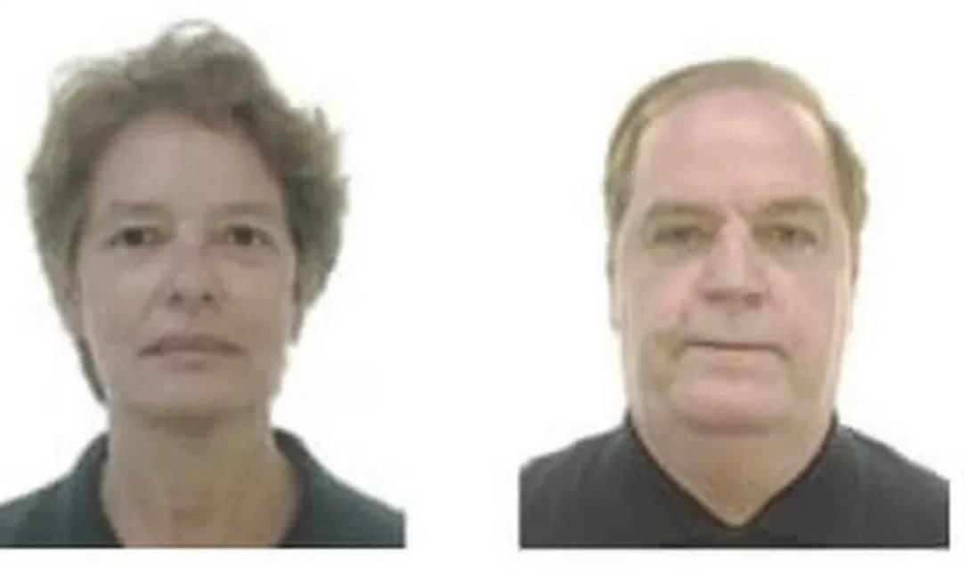 As vítimas: o médico urologista Paulo Oliveira Cesar, de 68 anos, e sua mulher, Raquel Heringer Cesar, de 61 Foto: Reprodução
