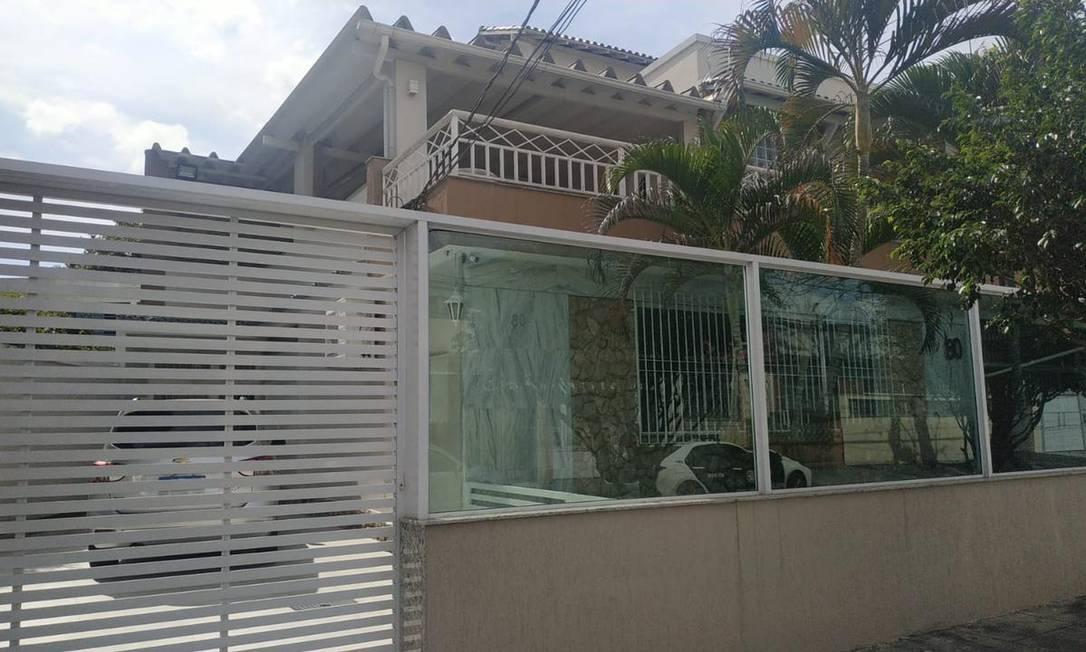 A fachada da casa do ex-gerente de banco Foto: Divulgação / Polícia Civil