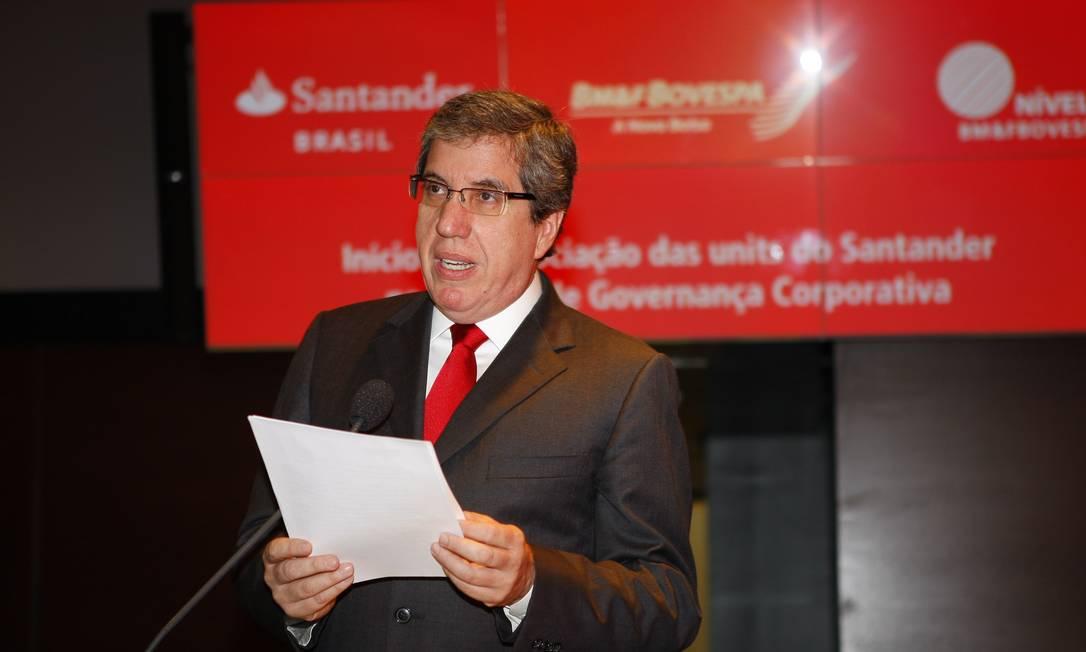 Fabio Barbosa, ex-presidente do Santander no Brasil Foto: Wladimir de Souza / Diario de S.Paulo 7/10/2009