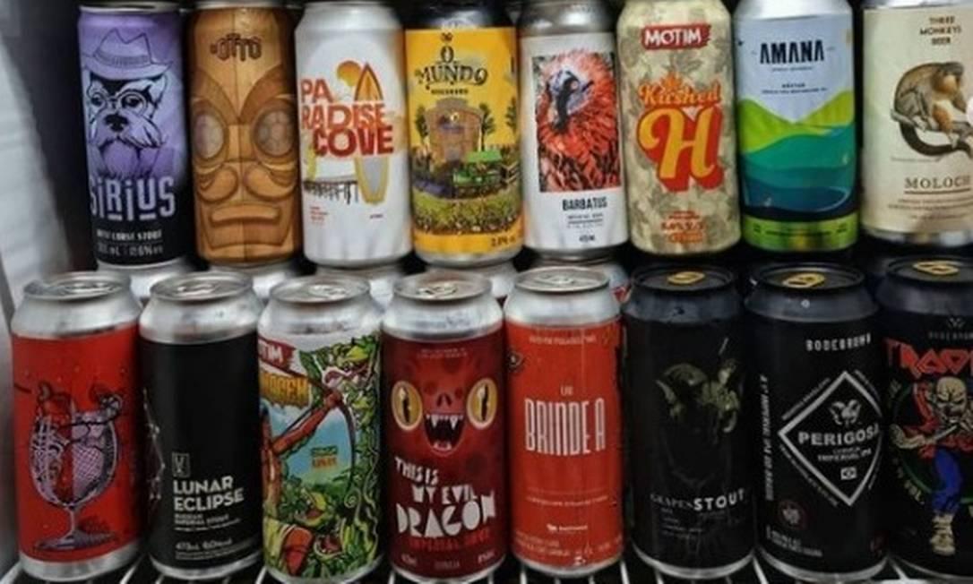 Geladeira abarrotada no Boteco do Raoni: hoje é o Dia da Cerveja Foto: Divulgação