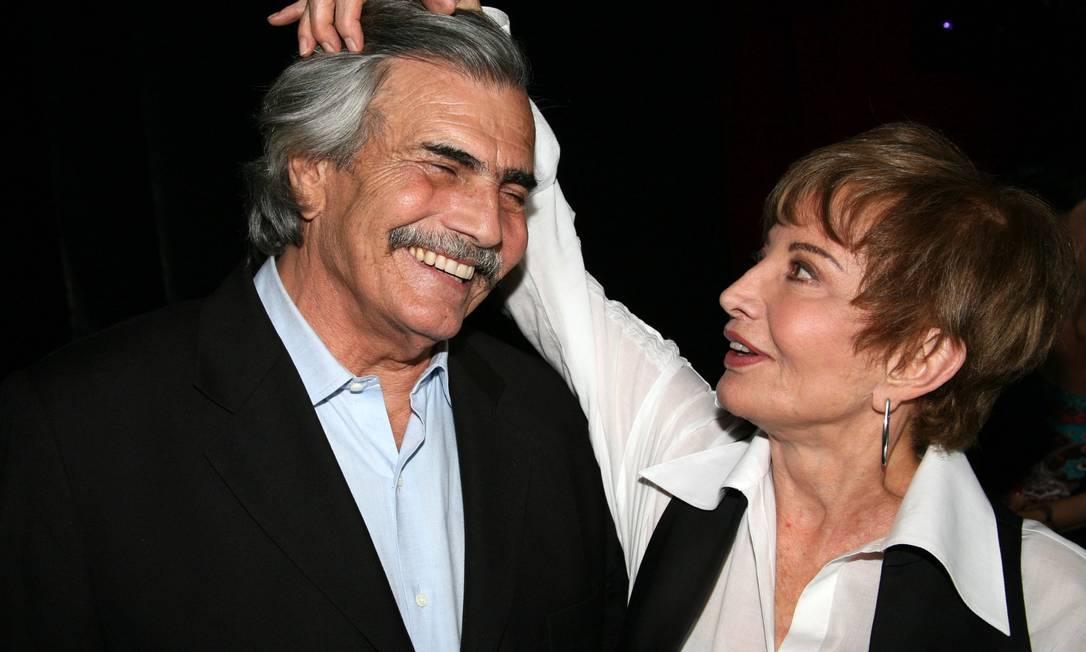 Os atores Tarciso Meira e Gloria Menezes, em 2008 Foto: Antônio Gambôa / Divulgação