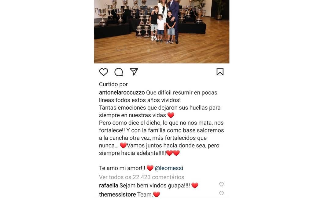 Rafaella Santos, irmã de Neymar, deu 'boas vindas' à mulher de Messi, Antonela Foto: Reprodução/Instagram