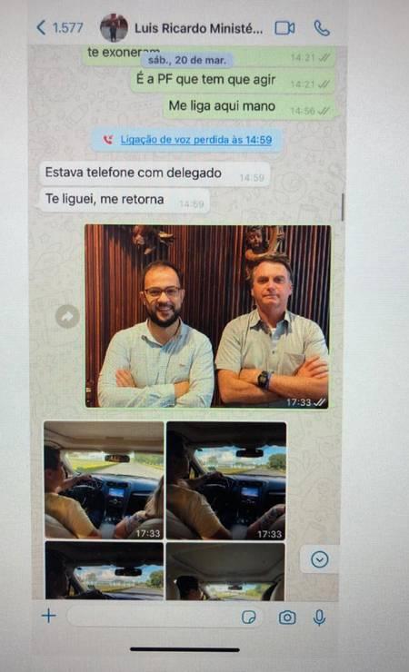 Conversa entre os irmãos Miranda Foto: Reprodução