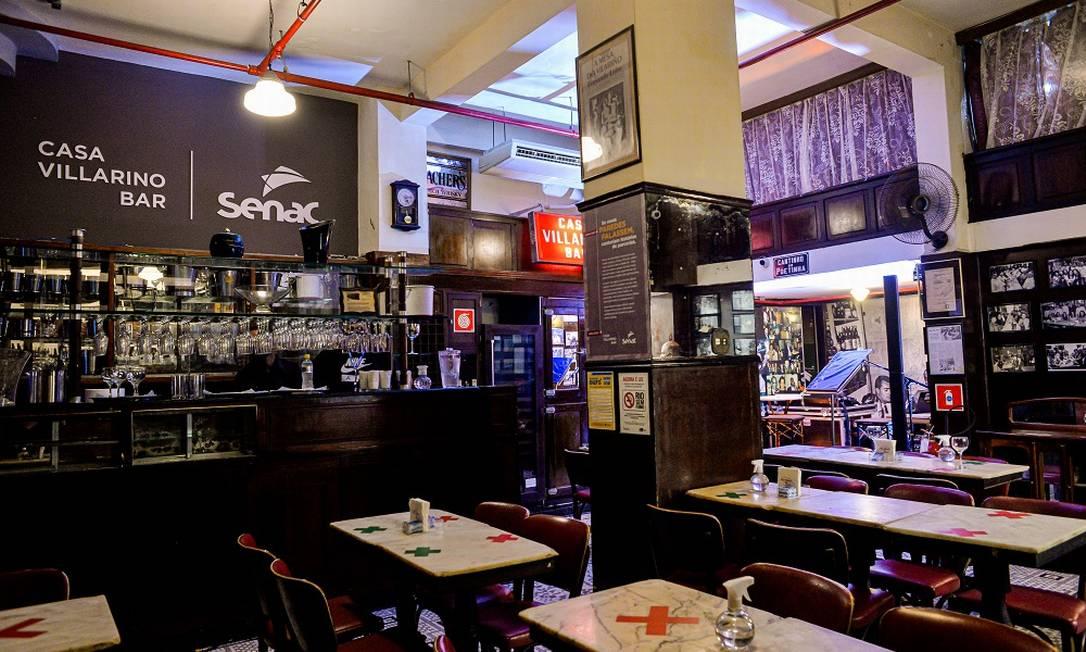 Batizado como Clube Senac Villarino Bar, o tradicional estabelecimento foi devolvido aos cariocas por meio de iniciativa do Senac RJ Foto: Erbs Jr./Divulgação/Senac RJ