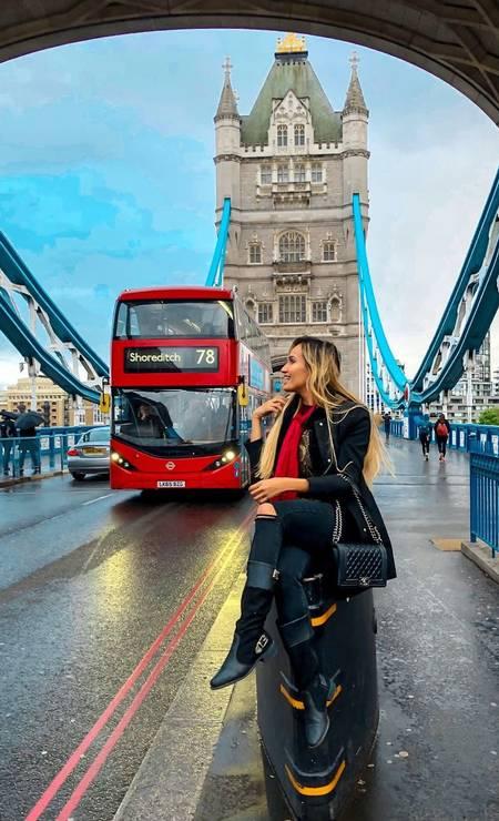 Laís Crisóstomo em Londres Foto: Reprodução