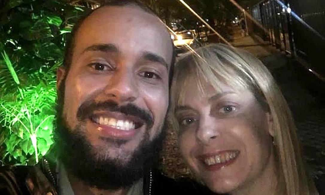 Pedro Paulo e Cristiane Louise: ela estava acolhendo o economista em seu apartamento, em Ipanema Foto: Reprodução / internet