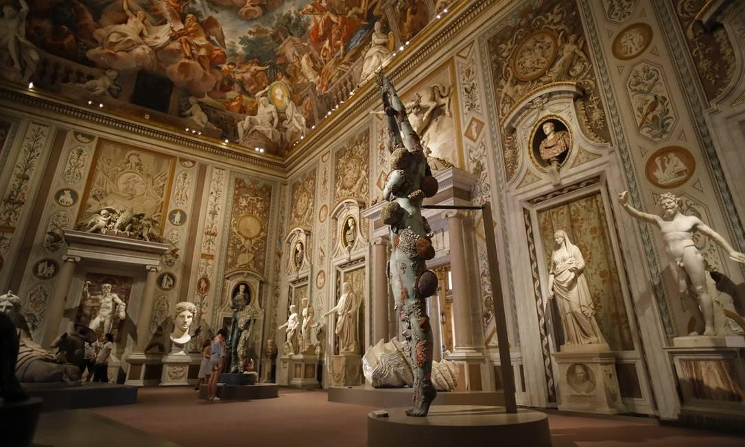As esculturas de mármore da Roma Antiga e do Renascimento, na Galleria Borghese Foto: Valerio Mezzanotti / The New York Times