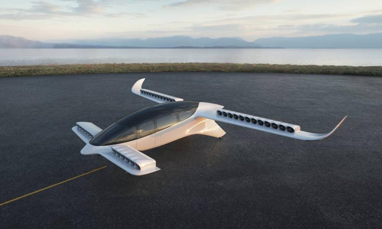 Azul firmou parceria com a alemã Lilium para trazer ao país 220 carros voadores a partir de 2025. Os modelos elétricos têm autonomia de 200 quilômetros entre uma recarga e outra Foto: Divulgação