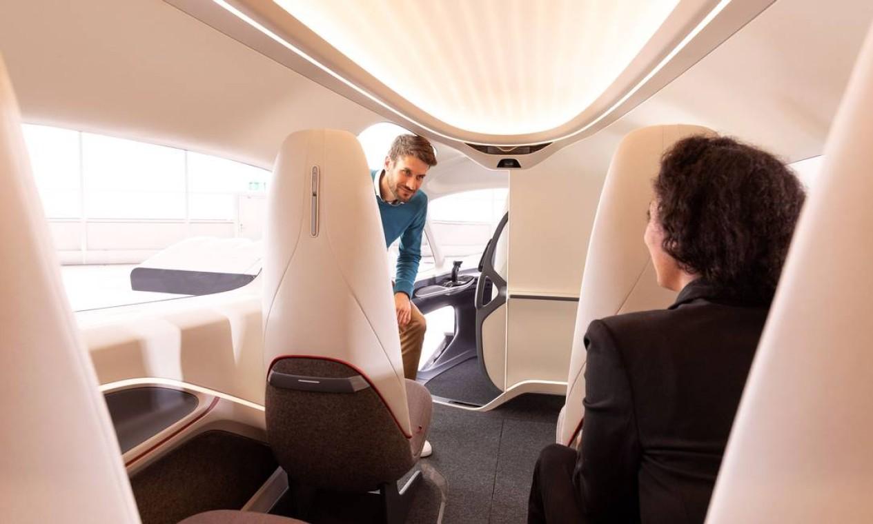 Azul aposta nesse tipo de veículo voador para abrir um novo nicho de mercado. O desafio será certificar o novo modal e garantir a segurança dos passageiros. Foto: Divulgação