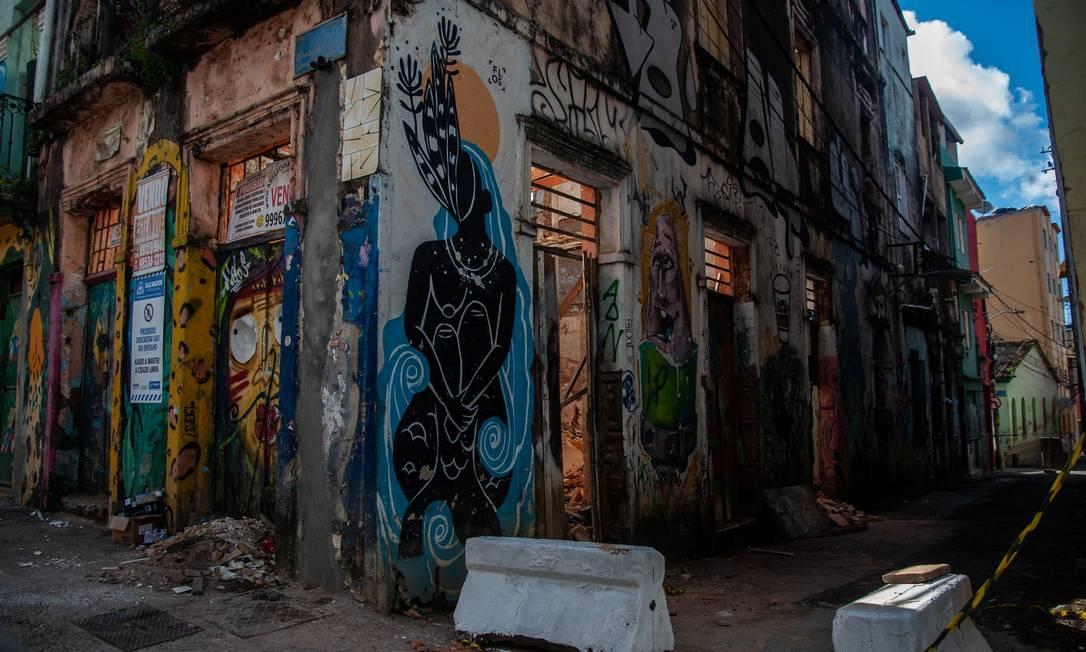 12/08/2021 Bairro do Santo Antonio Além do Carmo, tombado pelo IPHAN, com casas ameaçadas de desabamento. Foto Felipe Iruatã Foto: FELI / Agência O Globo