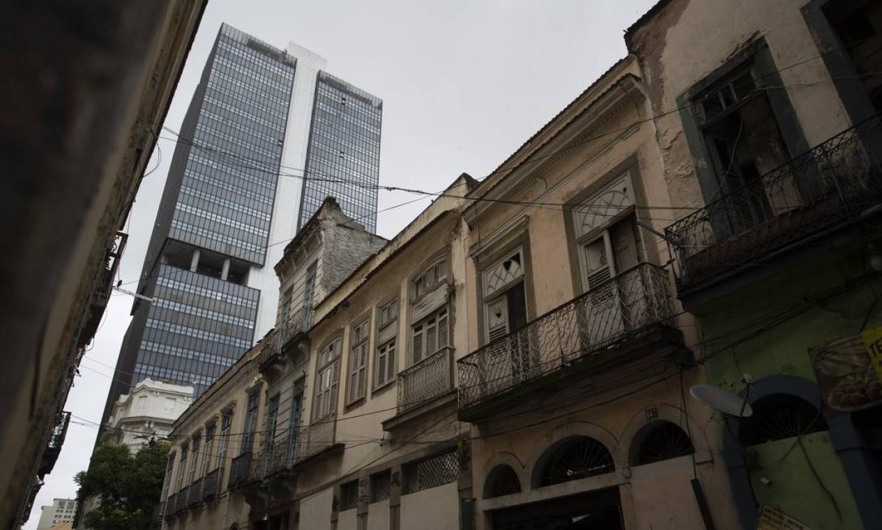 Casa de Machado de Assis, na Rua dos Andradas Foto: Márcia Foletto / Agência O Globo