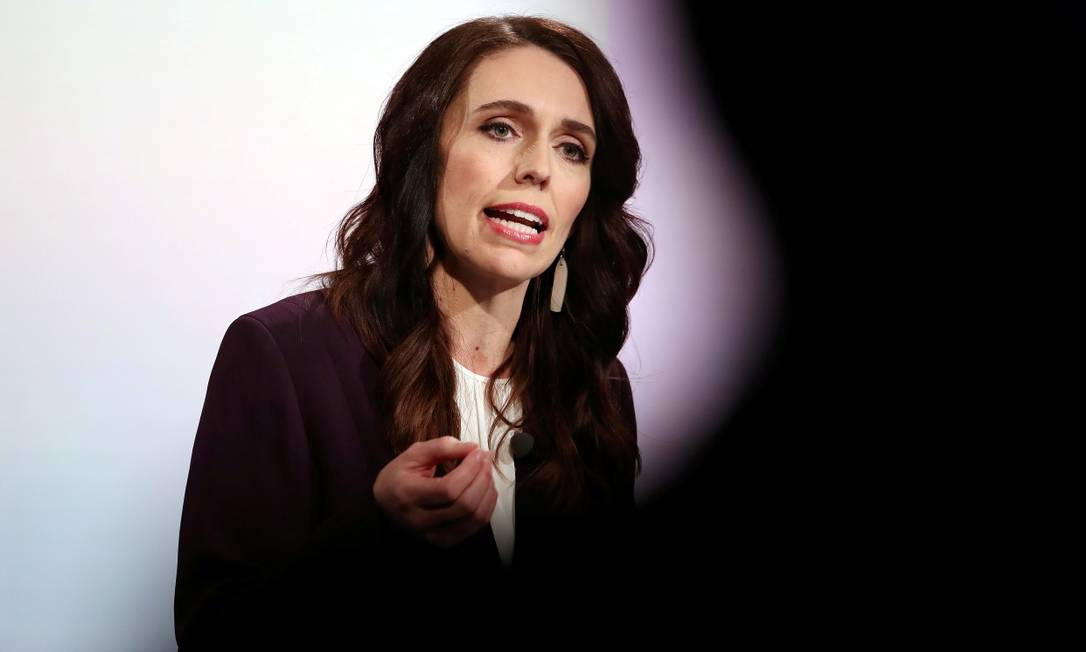 A primeira-ministra da Nova Zelândia, Jacinda Ardern, anunciou que o país fará lockdown após registro de um caso de Covid-19 Foto: POOL / REUTERS