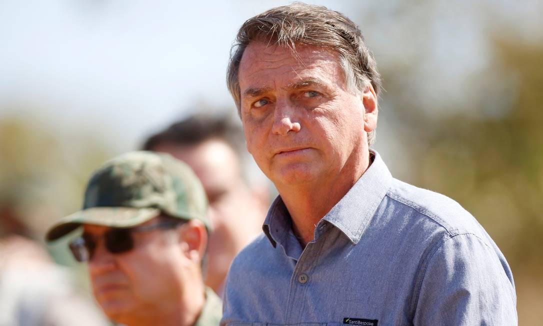 O presidente Jair Bolsonaro acompanha exercício militar em Formosa Foto: Adriano Machado/Reuters/16-08-2021
