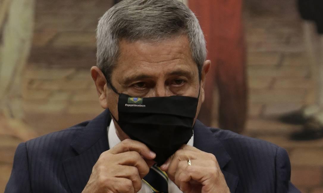 Na foto, General Braga Netto, ministro da Defesa. Foto: Cristiano Mariz / O Globo