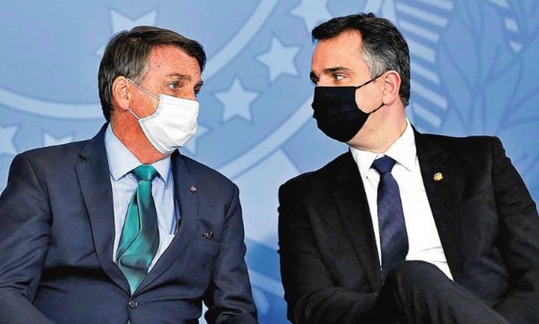 Jair Bolsonaro e Rodrigo Pacheco Foto: Agência O Globo