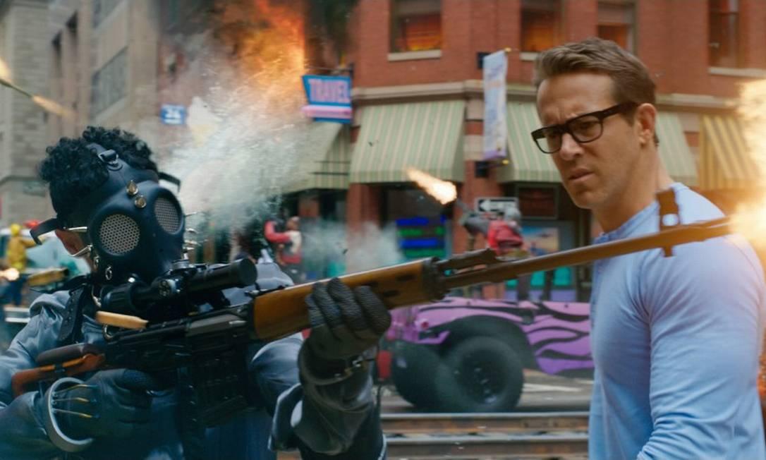 """""""Free Guy - Assumindo o controle"""": Ryan Reynolds interpreta personagem de um videogame Foto: Photo Credit: Courtesy of 20th C / Photo Credit: Courtesy of 20th C"""