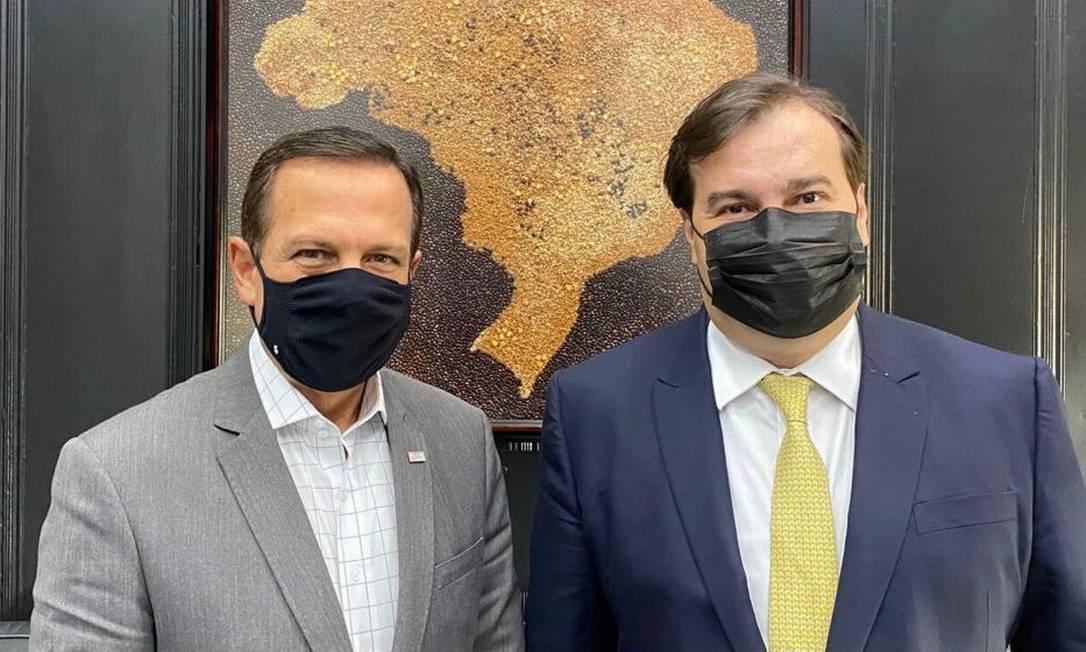 O governador João Doria e o deputado federal Rodrigo Maia Foto: Divulgação