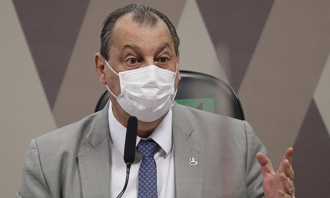 O presidente da CPI da Covid, senador Omar Aziz Foto: Cristiano Mariz/Agência OGlobo.