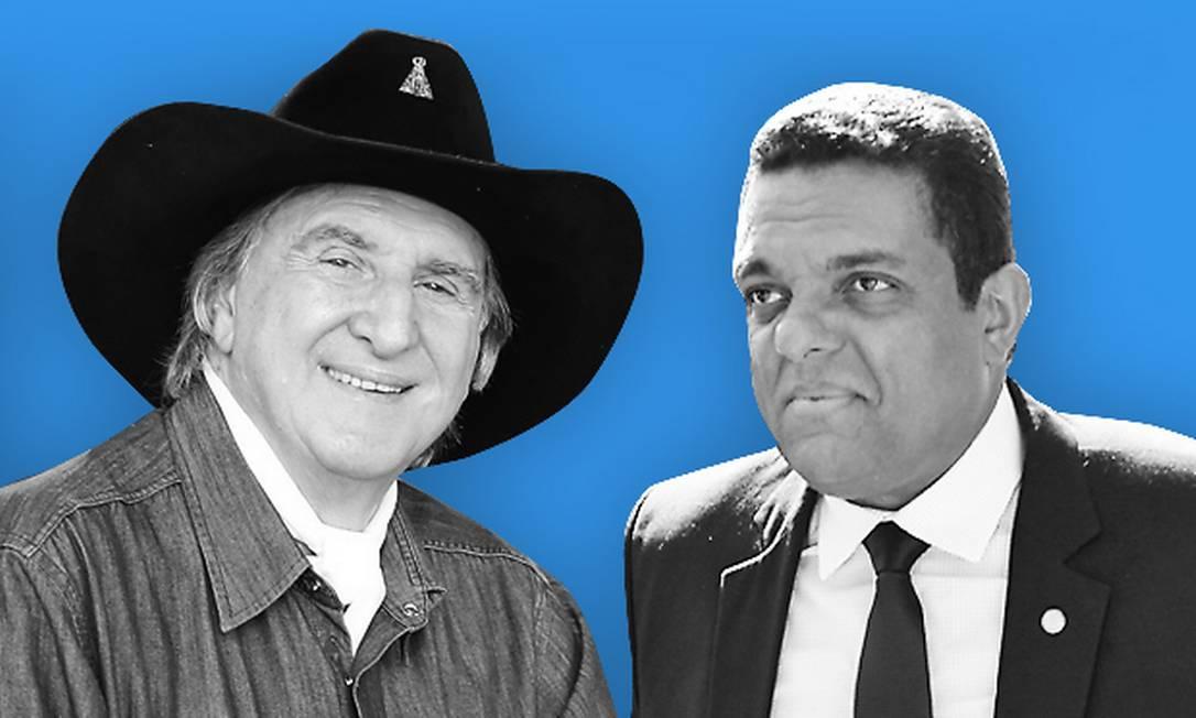 Sérgio Reis e Otoni de Paula Foto: Editoria de Arte