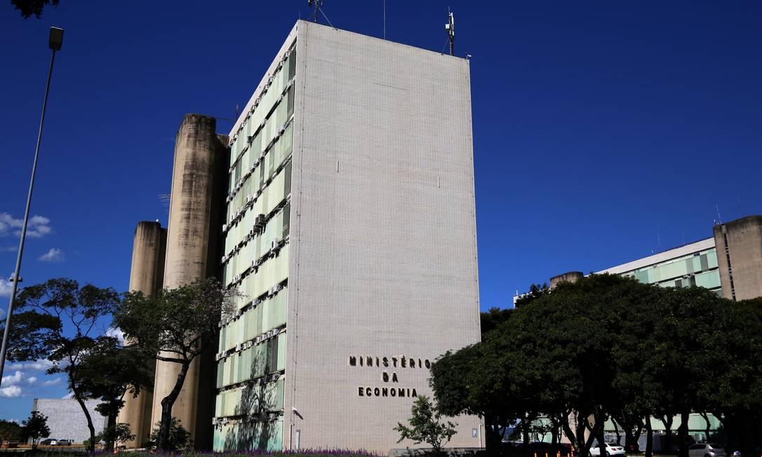 Fachada do Ministério da Economia, em Brasília Foto: Edu Andrade / Ministério da Economia
