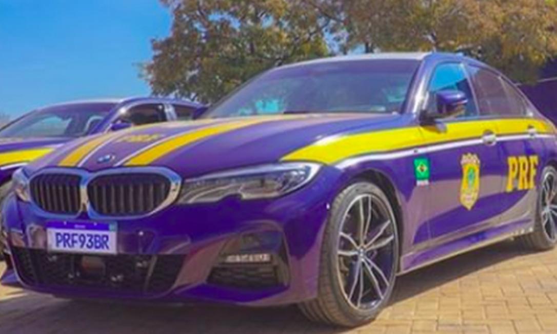 BMW 320I, um dos carrões que reforça a PRF Foto: Divulgação