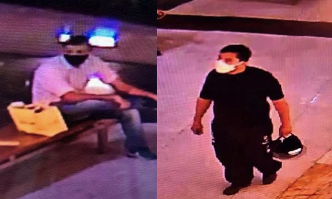 Homens flagrados em ação criminosa que terminou em tragédia na última sexta-feira. Polícia pede ajuda para identifica-los Foto: Reprodução