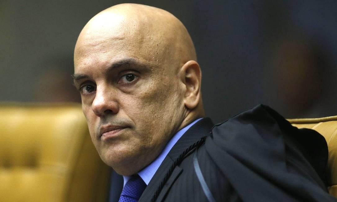 Ministro do STF, Alexandre de Moraes, alvo de pedido de impeachment do presidente Jair Bolsonaro Foto: Jorge William / Agência O Globo