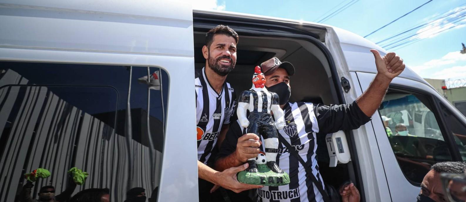 Diego Souza, última contratação de peso do Atlético-MG. Foto: Reprodução/Pedro Souza/Atlético