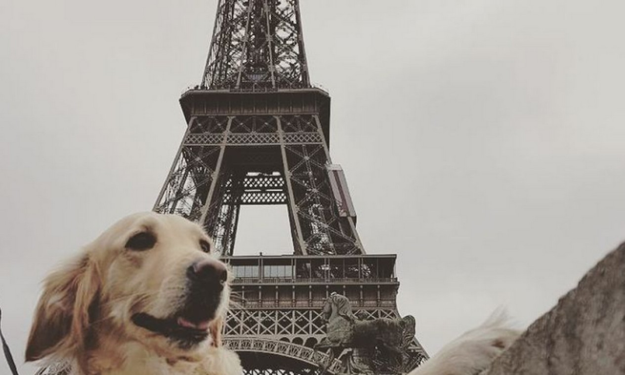 Lilo visitando a Torre Eiffel Foto: Reprodução Instagram