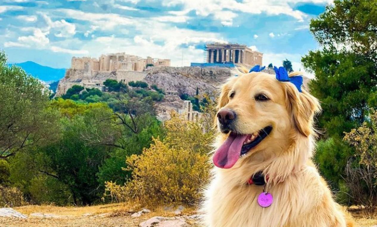Lilo em Acrópole de Atenas Foto: Reprodução Instagram