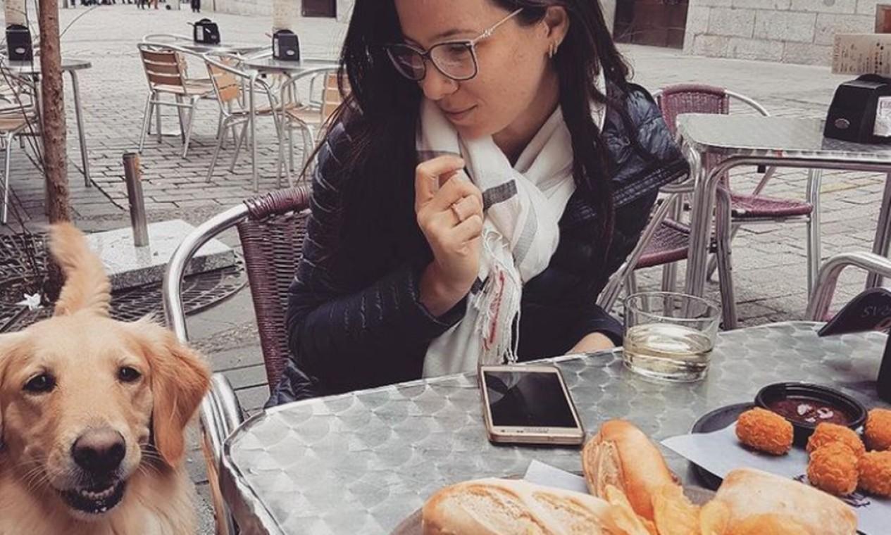 Lilo e Talita em Madrid Foto: Reprodução Instagram